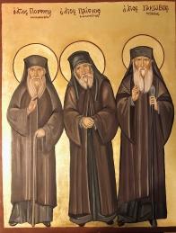Saint Porfirios Saint Paisios and Saint Iakovos Icon February 2018